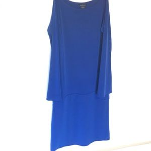 Blue bell sleeved drop waist Moda dress